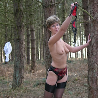 Sara's Woodland Striptease