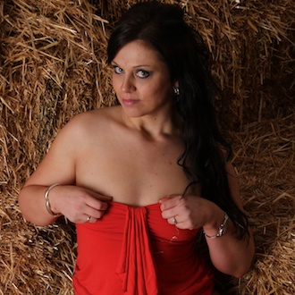 Stacey in the hay